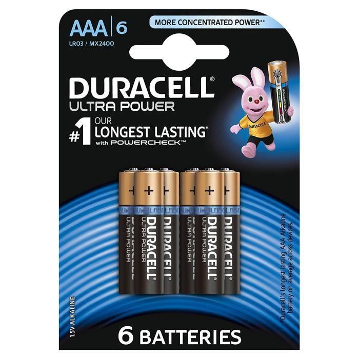 DURACELL 6 Piles Alcaline Ultra Power - AAA