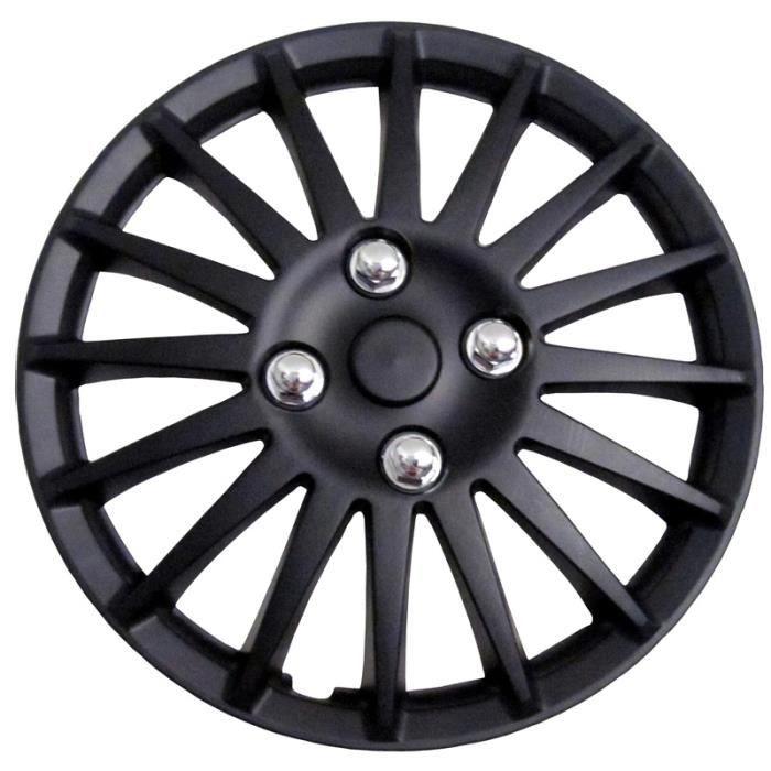 enjoliveur de roue de voiture noir 14 pouces race achat vente enjoliveur enjoliveur de roue. Black Bedroom Furniture Sets. Home Design Ideas