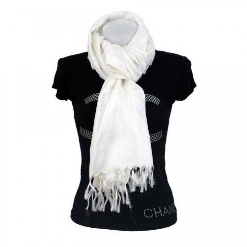 etole en soie blanche blanc achat vente echarpe foulard 3606505360396 soldes d s le 10. Black Bedroom Furniture Sets. Home Design Ideas