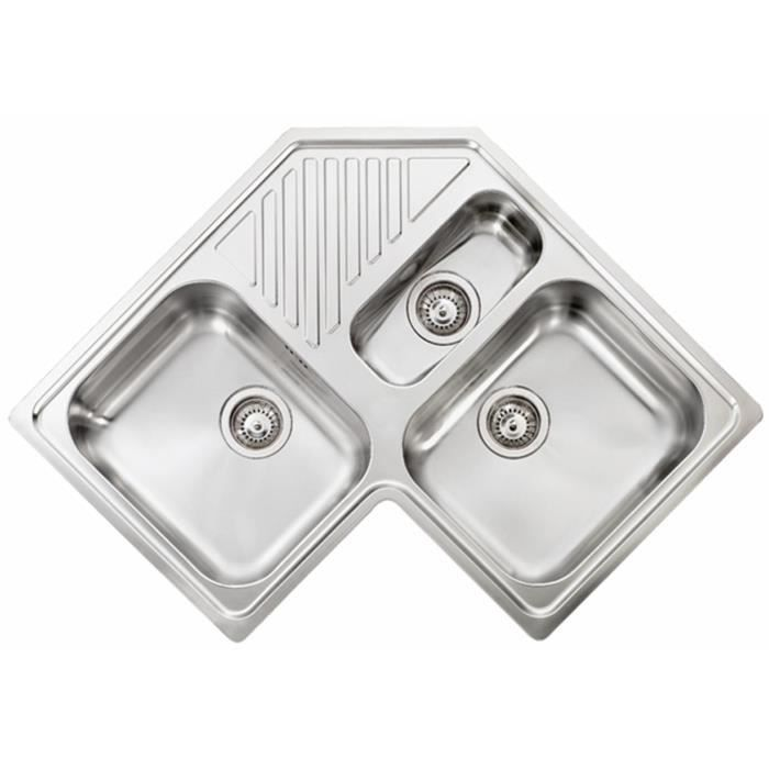 Evier D Angle Inox Lisse Angie 2 Bacs 1 2 1egou Achat Vente