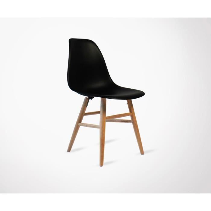 Chaise Design Scandinave Stab Couleur Noir Achat Vente