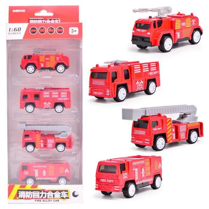 De Pour Voiture Camion Enfant Véhicule Kit Miniature Jouet Pompier 4pcs lFKJuT531c