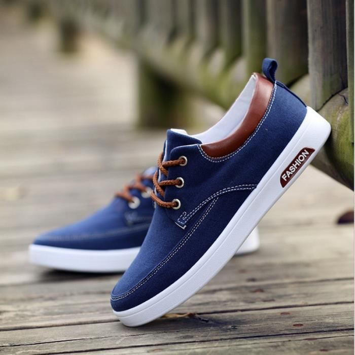 meet 6eb7b 29467 Casual-Mode Chaussure Homme Basket Homme Toile-Canvas Shoes