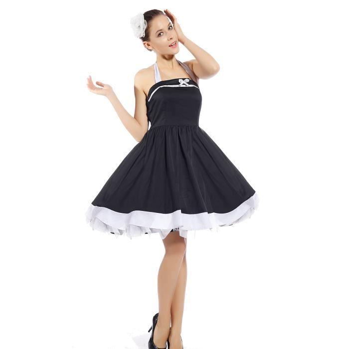 robe evasee rockabilly pin up swing vintage costume de deguisement pour danceuse fete soiree. Black Bedroom Furniture Sets. Home Design Ideas