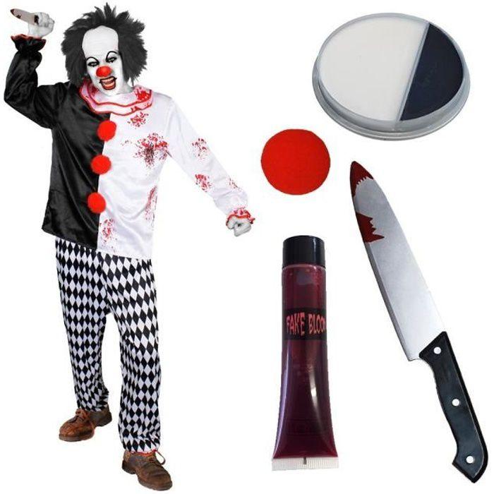 deguisement clown tueur enfant achat vente jeux et jouets pas chers. Black Bedroom Furniture Sets. Home Design Ideas