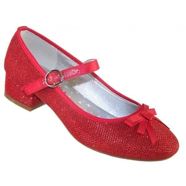 Escarpins bas rouges à paillettes pour fêtes et occasions spéciales