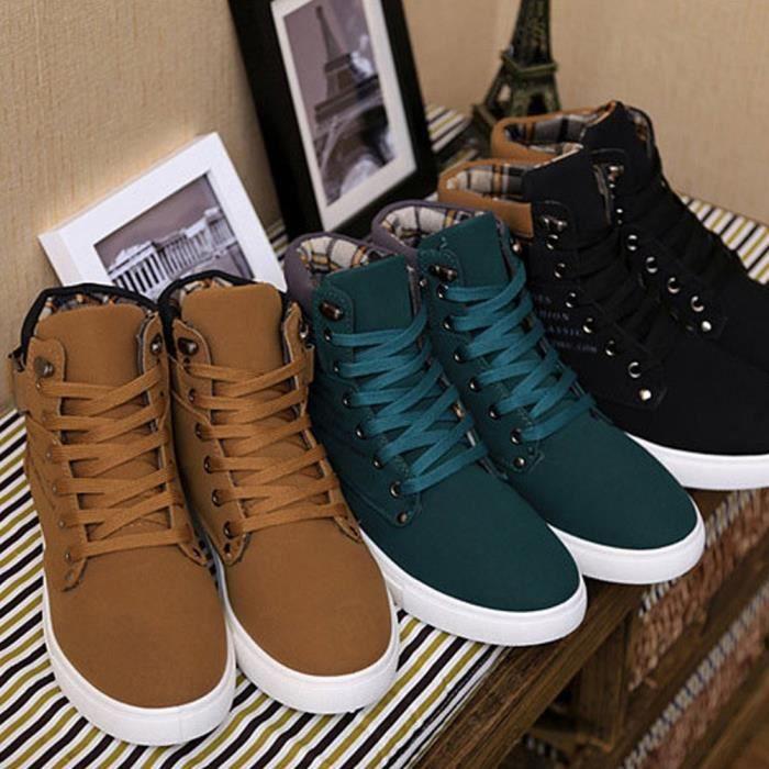 XZ680E9XZ680E9Hommes Baskets montantes Bottes Baskets Chaussures Casual Chaussures lacée de toile