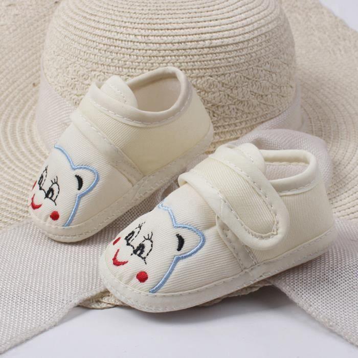 Frankmall®Bébé filles Garçon Soft semelle anti-dérapant chaussures de dessin animé ours chaussures BEIGE#WQQ0926059
