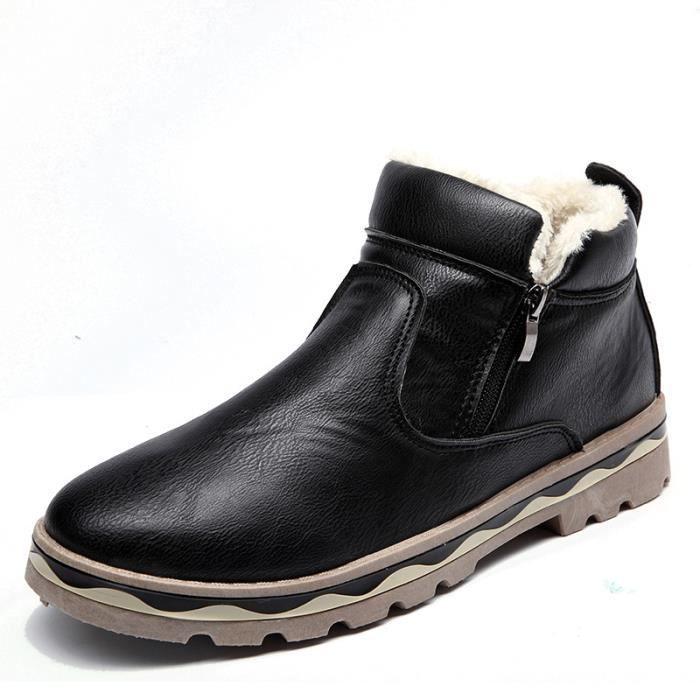 bottes Chaussures Bottes d'hiver hommes en Bottes hommes coton chaud CHUAAx