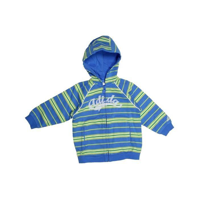 Bébé1114751 2 Garçon Hiver Enfant Adidas Ans Bleu Vêtement Sweat PXukTwOZi