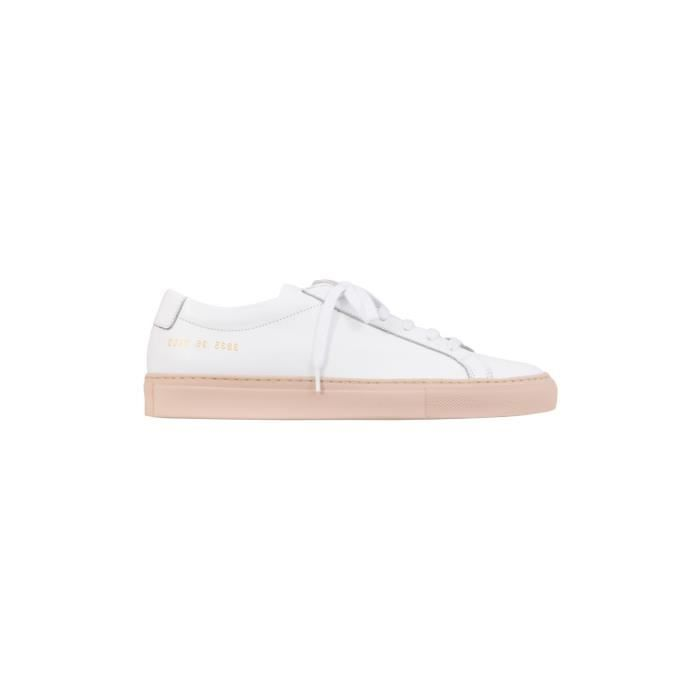 COMMON PROJECTS FEMME 38350600 BLANC CUIR BASKETS