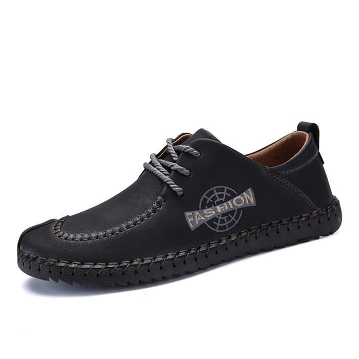 Richelieu homme Chaussures Oxford homme mode Grande taille 38-46 ... cb4a84a0c794