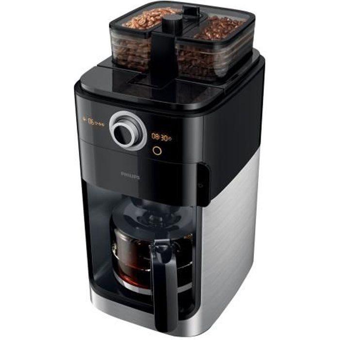 MACHINE À CAFÉ Philips Grind & Brew HD7769 Cafetière 12 tasses Mé