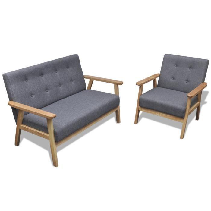 vidaxl 2 pcs fauteuil retro en bois gris Résultat Supérieur 50 Beau Fauteuil Retro Photos 2017 Kae2