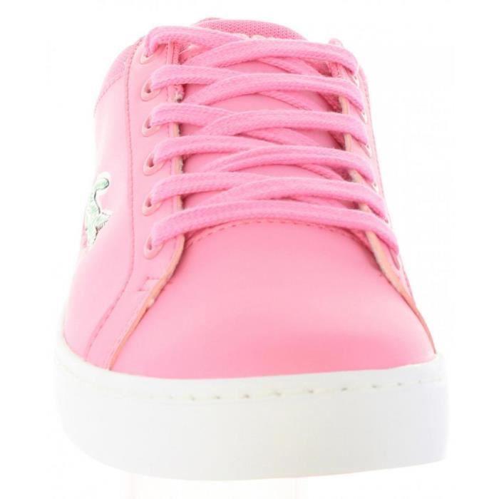 Chaussures de sport pour Femme LACOSTE 35CAJ0024 STRAIGHTSET F50 PNK-WHT