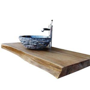 meuble salle de bain bois massif achat vente pas cher. Black Bedroom Furniture Sets. Home Design Ideas