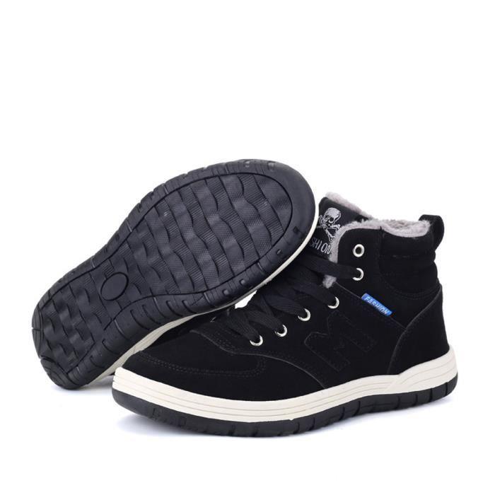 Noir Travail Bottes Hommes Chaud Extérieur Peluche D'hiver Cheville Femmes Sz70927495 Neige Chaussures En De F1g8qO1
