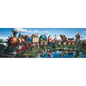 PUZZLE Puzzle 1000 pièces panoramique : Le petit train ai