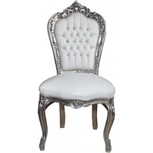 good chaise dner casa padrino baroque chaise blanc argent a with chaise baroque blanche pas cher. Black Bedroom Furniture Sets. Home Design Ideas