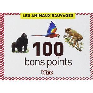 BON POINT - IMAGE Boîte de 100 bons points animaux sauvage