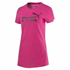T-SHIRT PUMA Ess Tee T-Shirt Mc Femme - Taille XS - ROSE