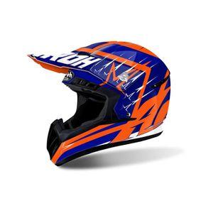 CASQUE MOTO SCOOTER Casque Motocross Airoh Switch Startruck Bleu