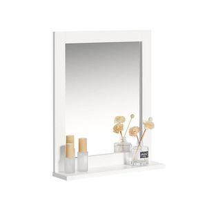 Miroir salle de bain avec etagere - Achat / Vente pas cher