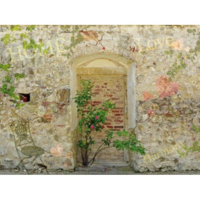 Murs papier peint photo poster mur de jardin achat for Papier peint romantique