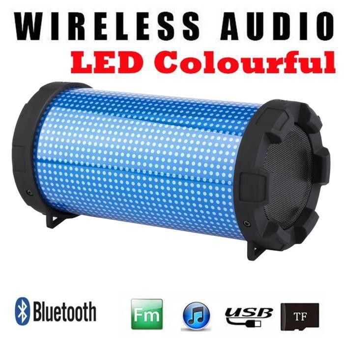 Haut-parleur Bluetooth Portable Led Mini Sans Fil Lecteur De Musique Son Colum_dw52