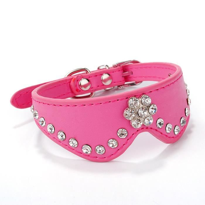 Boucle Collier En Cuir Pour Chien Puppy Chat Strass Hot Wy959635