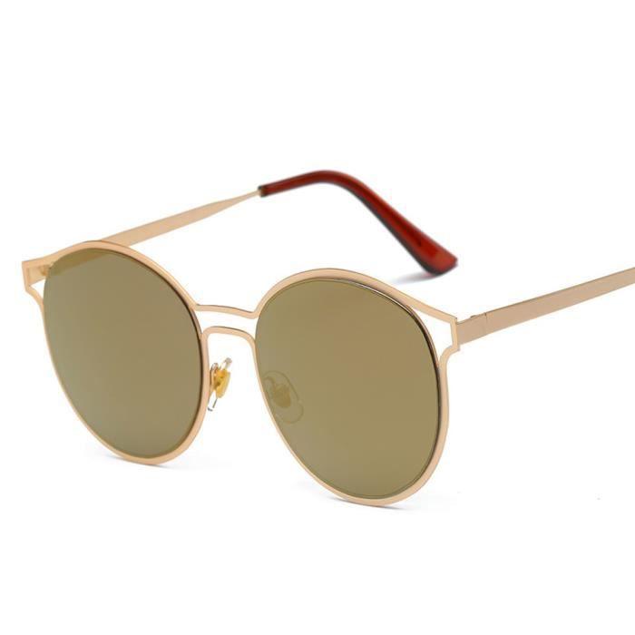 An-1150 Femmes Hommes Vintage Retro Lunettes Mode Unisexe Aviator Lunettes de soleil miroir lentilleor