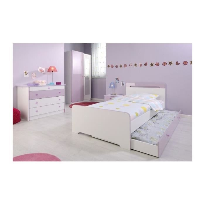 Chambre fille 4 pi ces miss blanche et rose achat for Chambre complete blanche