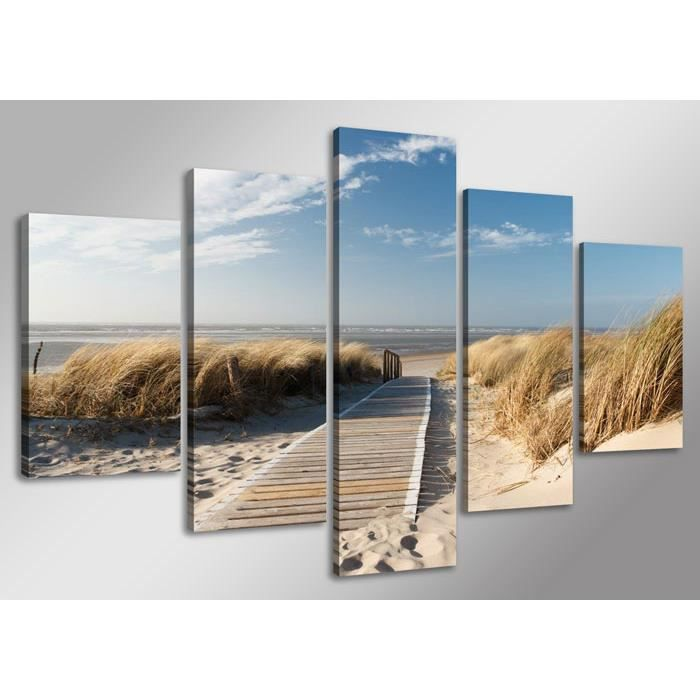 Tableau moderne imprim 160 x 80 cm mer achat vente - Tableau imprime sur verre ...