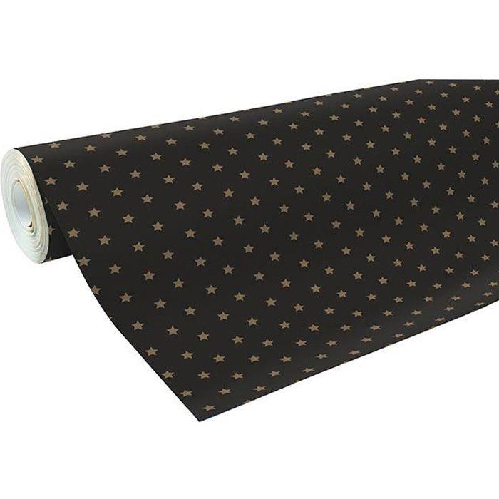 gros rouleau papier cadeau 50m alliance motifs étoiles - achat