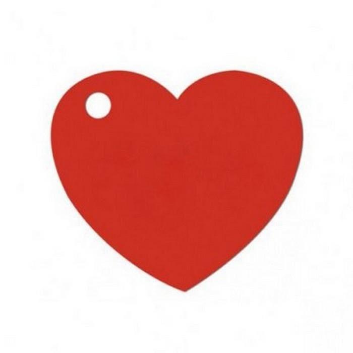 Lot de 50 tiquettes coeur rouge d coration mariage - Decoration coeur rouge ...