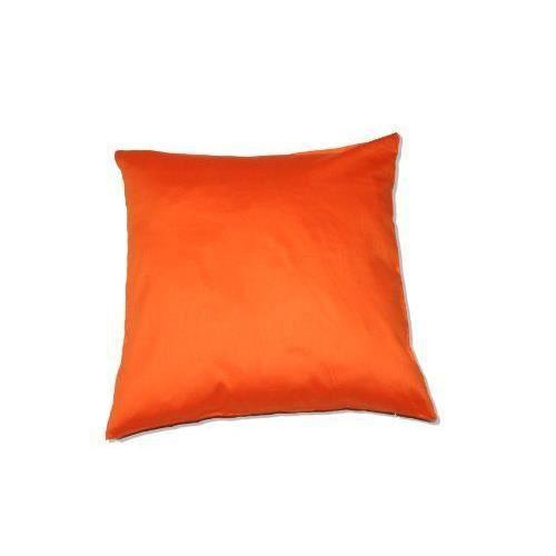 housse de coussin 40 x 40 cm orange - achat / vente housse de