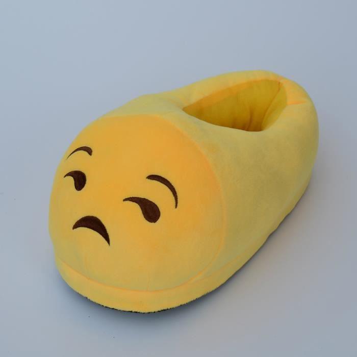 Unisexe Hiver Doux Chaud Emoji Chaussons taille unique (4# Teeth ) p7PH9