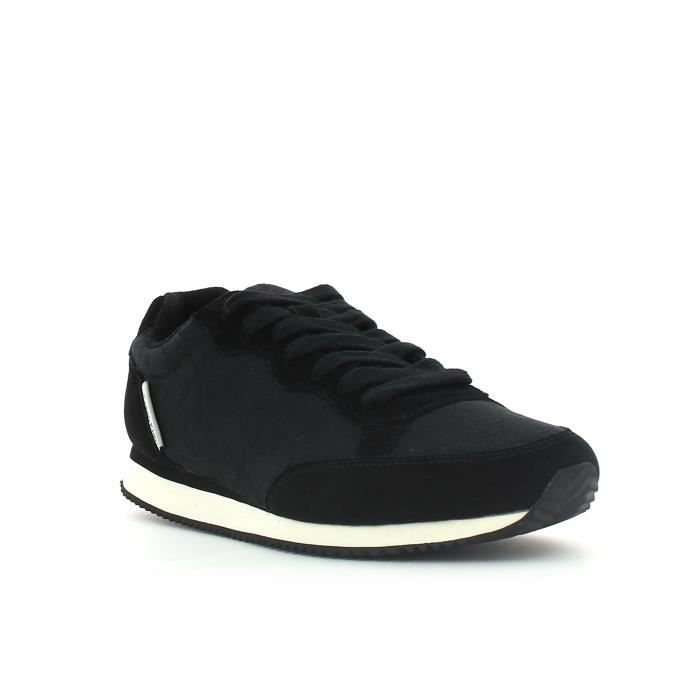 0d9bc9e33d Basket basse calvin klein major ck logo suede toile noir Noir ...