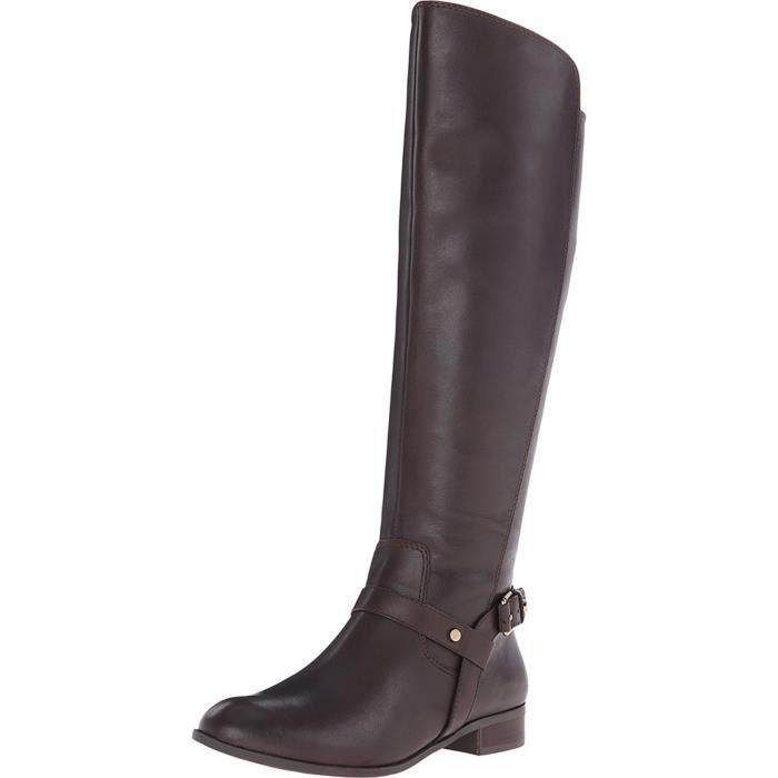 Anne Klein Kahlan Leather Riding Boot WVSZ8 Taille-36