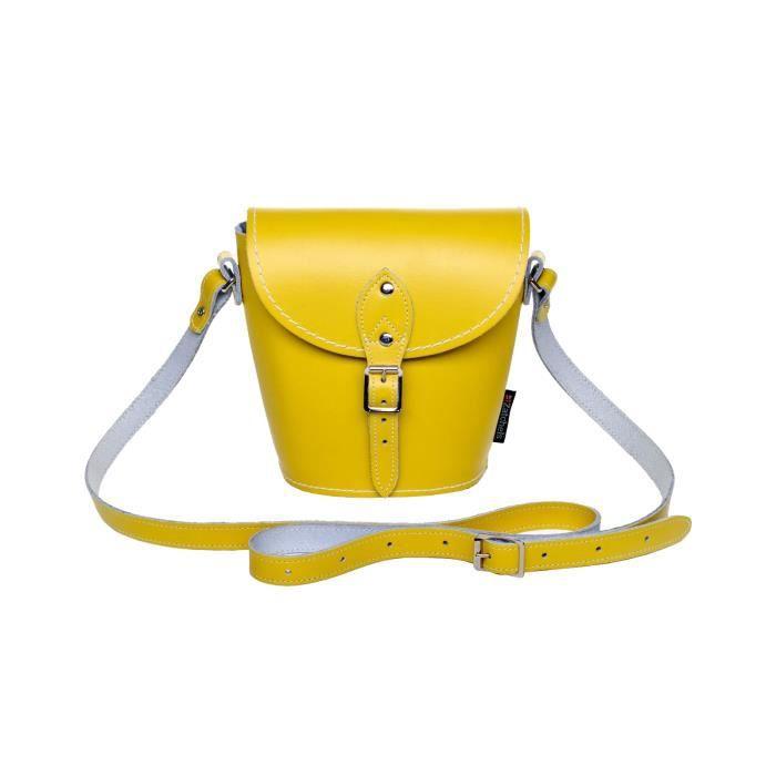 Zatchels - Sac à bandoulière en cuir couleur pastel (Fabrication britannique à la main) - Femme