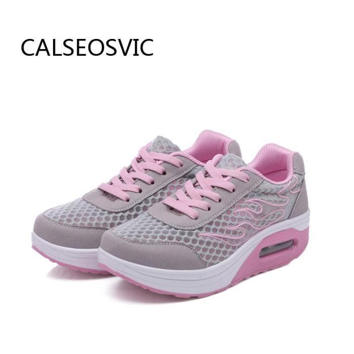 Chaussures 5 Calseo Star Gris Baskets Femme F1lTJc3K