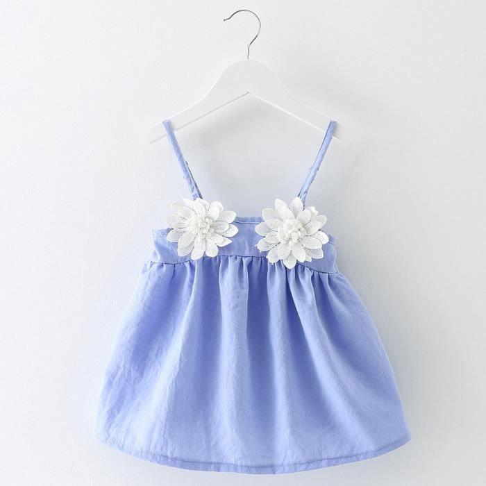 Filles Enfants De D'été Bébé Bleu Manches Mariée Sans Robe Âge Princesse En Pilerty®enfant Pxf80316751lb Bas Tournesol Fête vtwq48RU