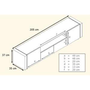 meuble tv bois brut achat vente pas cher. Black Bedroom Furniture Sets. Home Design Ideas