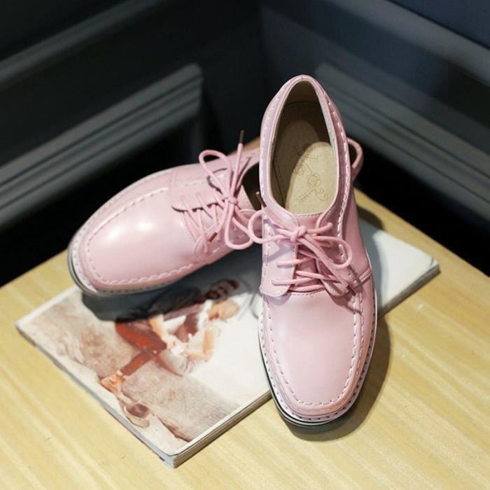 Sneakers Femme Plateformevernis à franges Couleur Pure Confortable Toutes les pointures de la 35 à la 43