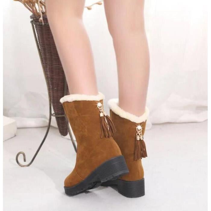 Bottes en coton femmes hiver chaude Cachemire Bottes de neige Femmes dans le tube Chaussures femme hiver q229IwrdhH