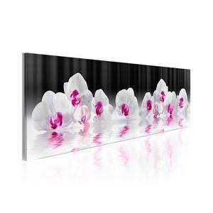 TABLEAU - TOILE Tableau Orchidées Dans L'Eau - Dimension - 135x45.