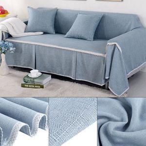 HOUSSE DE CANAPE Housse de canapé en Tissu Imitation Lin Protecteur