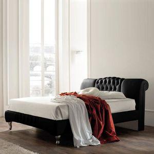 STRUCTURE DE LIT Lit design Sandra - 140x190 - Noir