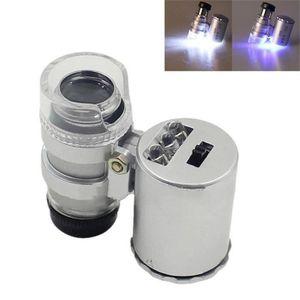 MICROSCOPE OPTIQUE Mini Microscope de Poche 60x Loupe de poche portab