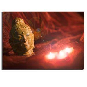 BOUGIE DÉCORATIVE LED décoration lit-salon murale toile Bouddha moti